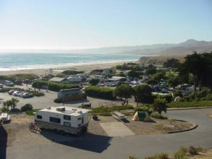 Ocean front campground